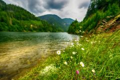 The Most Beautiful Lake in mountain Stock Image