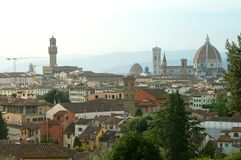 Most beautiful landscape of Renaissance Florence, Toscana, Italy stock images