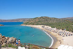 Most beautiful landscape of Vai beach at Crete Island, Greece Royalty Free Stock Photography