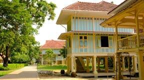 The most beautiful Marukhathaiyawan Palace Mrigadayavan Palace located on Hua Hin, Phetchaburi, Thailand. Having walkway around Royalty Free Stock Image