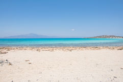 Most beautiful Mediterranean beach at Crisi Island, Crete Royalty Free Stock Photos