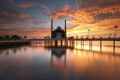 Most beautiful mosque. Floating mosque, mesjid Amirul mukminin Makassar Stock Images