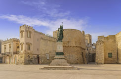 The most beautiful old towns of Italy. Apulia: historical center of Otranto in Salento. royalty free stock photo