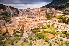 Aerial view of Valldemossa in Mallorca. royalty free stock photo