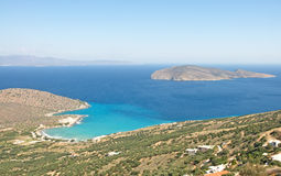 Most beautiful, scenic landscape of Crete Island, Greece royalty free stock images