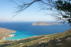 Most beautiful, scenic landscape of Crete Island, Greece stock photo
