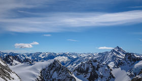 Most beautiful snow landsacpe Royalty Free Stock Image