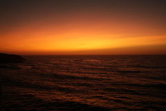 Sunset in Portugal. The most beautiful sunset in Portugal is in São Martinho do Porto, Oeste royalty free stock image