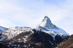 The most beautiful Swiss Alps, Matterhorn in Zermatt. With tourist, Switzerland stock photo
