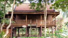 The most beautiful Thai House located at Phetchaburi Thailand Stock Images