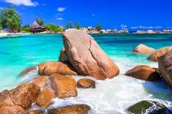 Most beautiful Tropical beaches - Seychelles islands Stock Photos