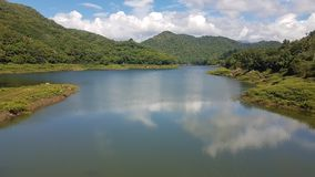 Victoria lake in sri lanka. Most beautiful & valuable historical lake in sri lanaka, there locating in Teldeniya stock photography