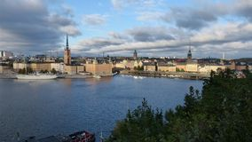 The most beautiful view of Stockholm stock photos