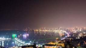 The most beautiful Viewpoint Pattaya Beach in Pattaya city Chonburi,Thailand. stock photos
