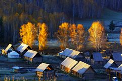 The most beautiful village of China Stock Photos