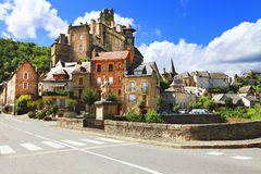 Most beautiful villages of France - Estaing Royalty Free Stock Image