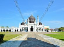 The most beautiful Zahir mosque in Kedah Malaysia. The Zahir Mosque is Kedah`s state mosque. It is located in the heart of Alor Star, the state capital of Kedah Royalty Free Stock Photos