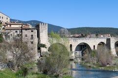 Most Besalu Zdjęcie Stock