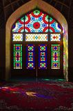pink mosque in iran royalty free stock image