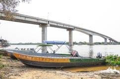 Most blisko Corumba miasta który przechodzi nad Paraguai rzeka Fotografia Stock