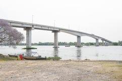 Most blisko Corumba miasta który przechodzi nad Paraguai rzeka Obrazy Royalty Free