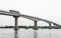 Most blisko Corumba miasta który przechodzi nad Paraguai rzeka Obrazy Stock
