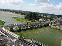 Most blisko kasztelu Amboise, Francja Zdjęcia Royalty Free