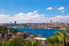 most bosfor promie Istanbul przechodzącego indyk Obrazy Stock