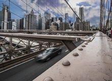 Most Brooklyński, Brooklyn, Nowy Jork, usa 14 2018 Październik zdjęcie royalty free