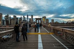 Most Brooklyński - Miasto Nowy Jork zdjęcie stock
