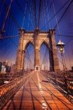 Most Brooklyński Miasto Nowy Jork USA i Manhattan obrazy stock