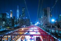Most Brooklyński, nowy York, 08-26-17: piękny most brooklyński przy Zdjęcie Stock