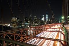 Most Brooklyński Przy godziną szczytu Obraz Stock