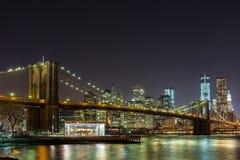 Most Brooklyński i Miasto Nowy Jork Fotografia Royalty Free