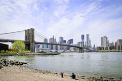 Most Brooklyński Miasto Nowy Jork Zdjęcie Stock