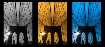 Most Brooklyński, Miasto Nowy Jork USA Fotografia Stock