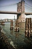 Most Brooklyński przy Miasto Nowy Jork Obraz Royalty Free
