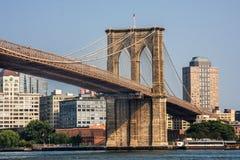 Most Brooklyński przy Miasto Nowy Jork Fotografia Royalty Free