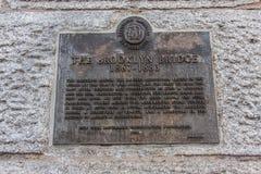 Most Brooklyński przy Miasto Nowy Jork Zdjęcie Royalty Free