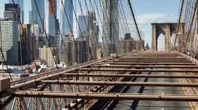 Most Brooklyński w Miasto Nowy Jork Fotografia Royalty Free