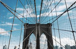 Most Brooklyński w Miasto Nowy Jork Fotografia Stock