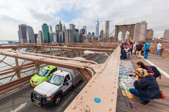 Most Brooklyński w Miasto Nowy Jork Obrazy Royalty Free