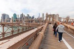 Most Brooklyński w Miasto Nowy Jork Zdjęcia Royalty Free