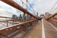 Most Brooklyński w Miasto Nowy Jork Obrazy Stock
