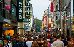 Most bustling commercial street in Cologne Stock Photos