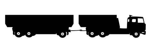 Most Car Truck. Vector Illustration Stock Photo