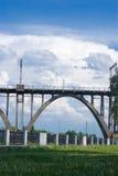 most chmurnieje niebo Obraz Stock
