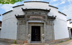 The most classic Jiangnan characteristic building. Chinese Wuxi Huishan ancient town preserved the classical Jiangnan architectural features, ancestral cultural Royalty Free Stock Images