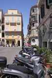 Most common form of transport on the streets of Corfu Royalty Free Stock Photography