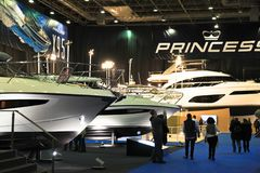 The most comprehensive and largest meeting of the maritime sector Istanbul 14. Cnr Eurasia Boat Show 2019 opened its doors splendi. Cnr Expo held in Yesilkoy 14 royalty free stock photography